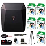 Fujifilm Instax SP-3 Printer (Black) w/ SQ10 Film (50 Exposures) & Accessory Kit