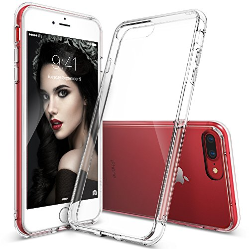 iPhone 7 Plus Case, Ringke [FUSION] Crystal Clear PC Back TPU Bumper...