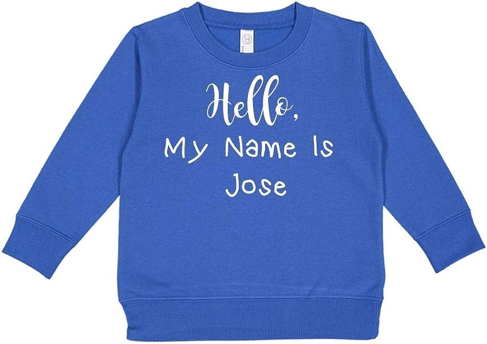 Mashed Clothing Hello My Name is Jose Personalized Name Toddler//Kids Sweatshirt