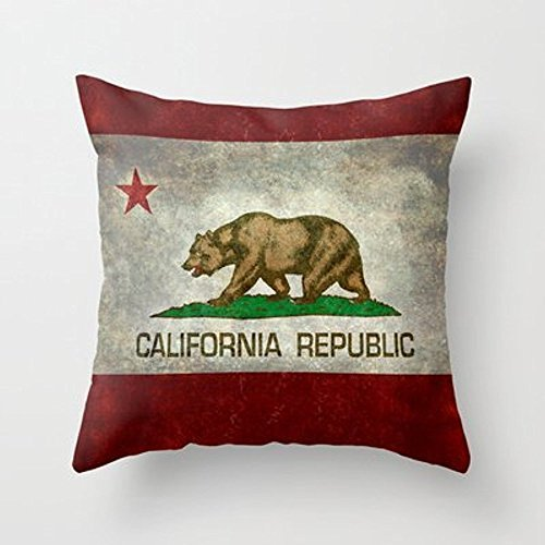 My Honey Pillow California Republic State Flag Throw Pillow By Bruce Stanfieldfor Your Home