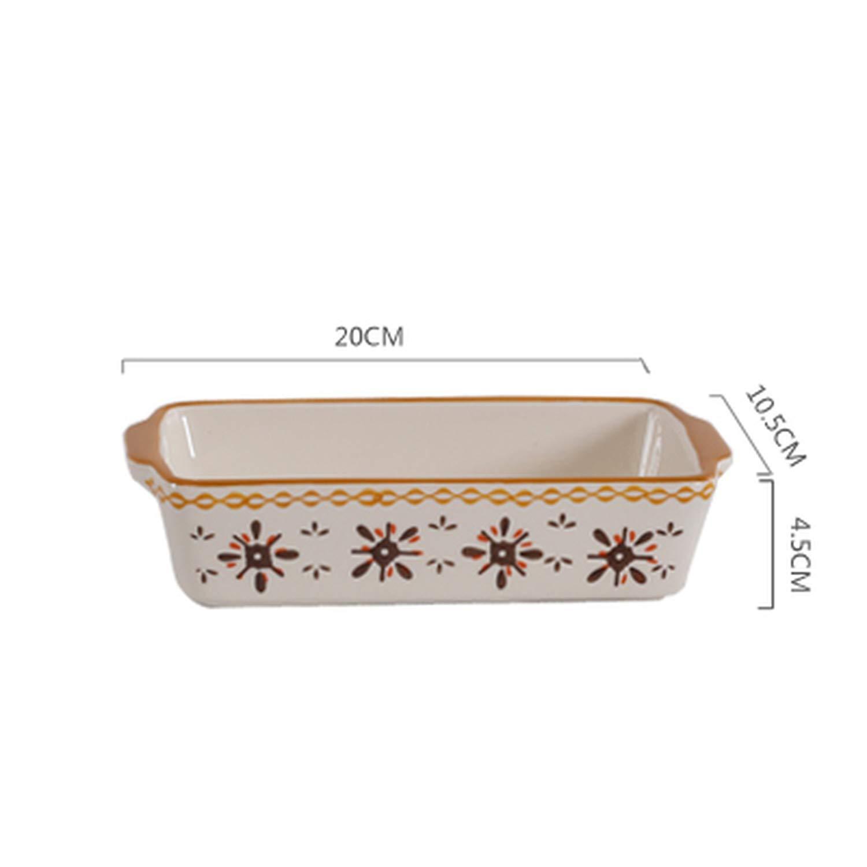 European Oval Non Stick Ceramic Baking Dishes Tray Lasagna Baker Roasting Lasagna Pan Casserole,Orange