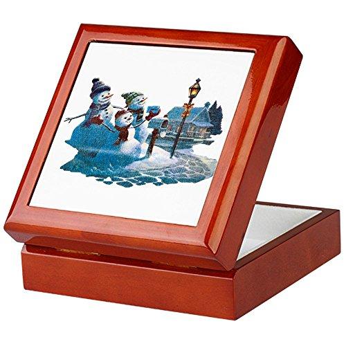 (Keepsake Box Mahogany Christmas Snowman Mailing Santa)
