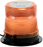 North American Signal LEDQ375-A Class 1 LED Beacon with Permanent Mount, 12/24V, Amber