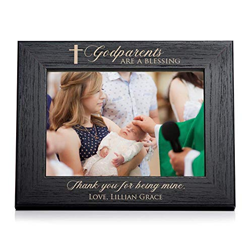 Lifetime Creations Engraved Personalized Godparent Picture Frame (5