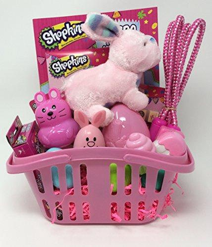 Pre-Made Shopkins Easter Basket in Pink Momentum Brand Shopping Basket