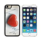 MSD Premium Apple iPhone 6 iPhone 6S Aluminum Backplate Bumper Snap Case Cardiogram pulse trace and heart concept for cardiovascular medical exam 27251987