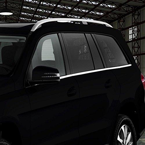 (Mercedes GL Chrome Stainless Window Sill Trim 6p 07-2012 GL320 GL350 GL450 GL550)
