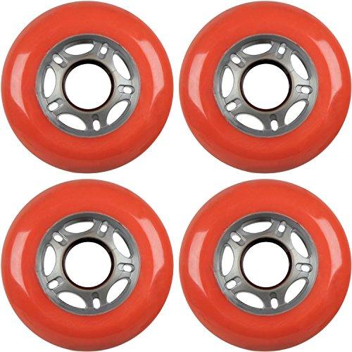 Skate In Hockey Line Red - 4 ASPHALT HOCKEY FORMULA Inline Skate Wheels 76mm 89a RED [Misc.]