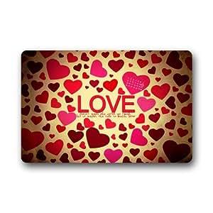 """Custom Machine-washable Doormat -- Love Custom Durable Floor Mat/Gate Pad for Indoor/Outdoor 23.6""""(L) x 15.7""""(W)"""