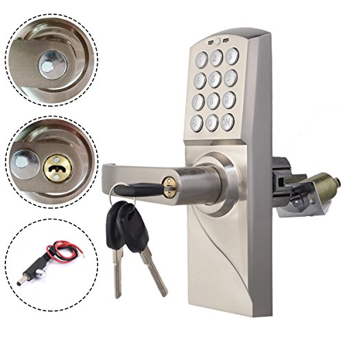 Seat Belts Chrome Lift (Chrome New Door Lock Left Handle New Digital Electronic/Code Keyless Keypad Security Entry)