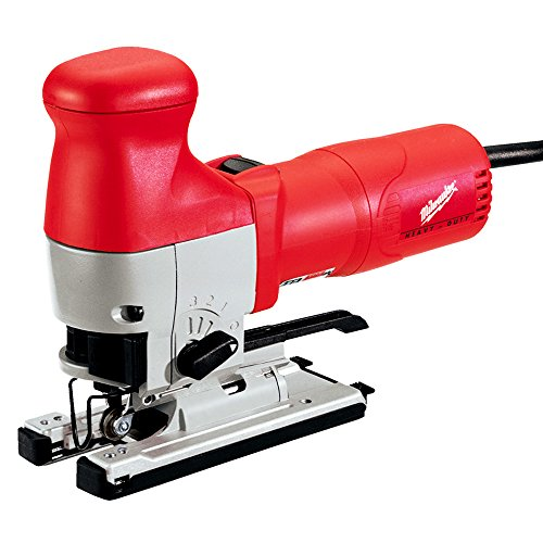 120v Jigsaw (Milwaukee 6276-21 120V AC Body Grip Orbital Jig Saw w/ Blades - 7 Setting Dial Speed Control 500-3000 SPM - 10 Position Dust Blower And Built-In Dust Collection Port For)