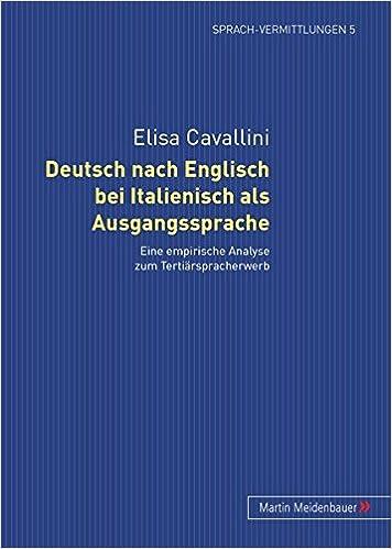 Deutsch Nach Englisch Bei Italienisch Als Ausgangssprache Eine