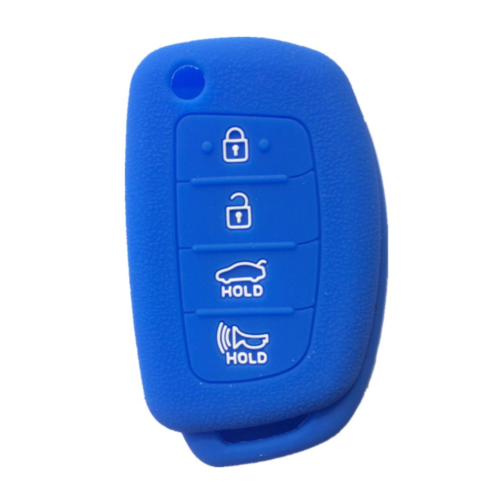 IX45 Black and Red 4 Buttons FLIP Folding Remote samrt Key Case Cover Key Holder for 2013-2014 Hyundai Santa FE