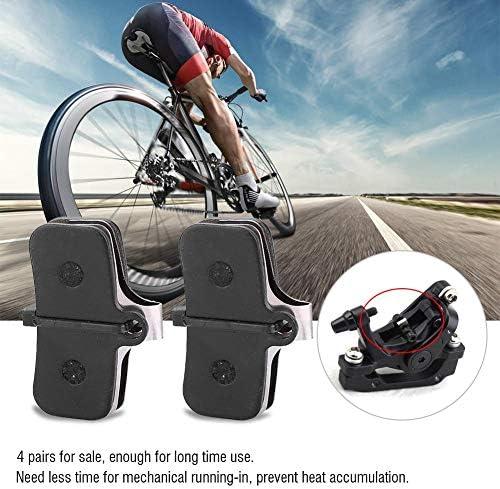 自転車用ディスクブレーキパッド、4ペア樹脂製半金属製自転車用ディスクブレーキパッド自転車用ブレーキ部品ブレーキパッドセット