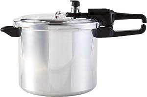 Continental Electric CE-PR121 Pressure Cooker, 9 Quart, Silver