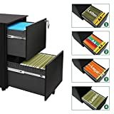 DEVAISE 2 Drawer Mini File Cabinet with Lock