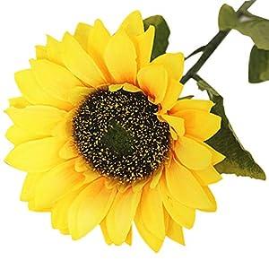 KimiMix Single Head Sunflower Artificial Flower Home Soft Dress Living Room Floor Simulation Sun Flower 34