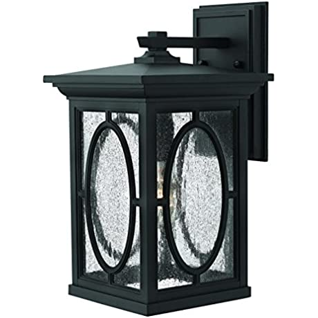 Hinkley 1494BK Transitional One Light Wall Mount From Randolph Collection In Blackfinish