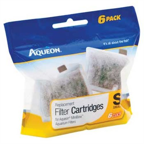 (Aqueon QuietFlow Filter Cartridge, Small, 6-Pack)