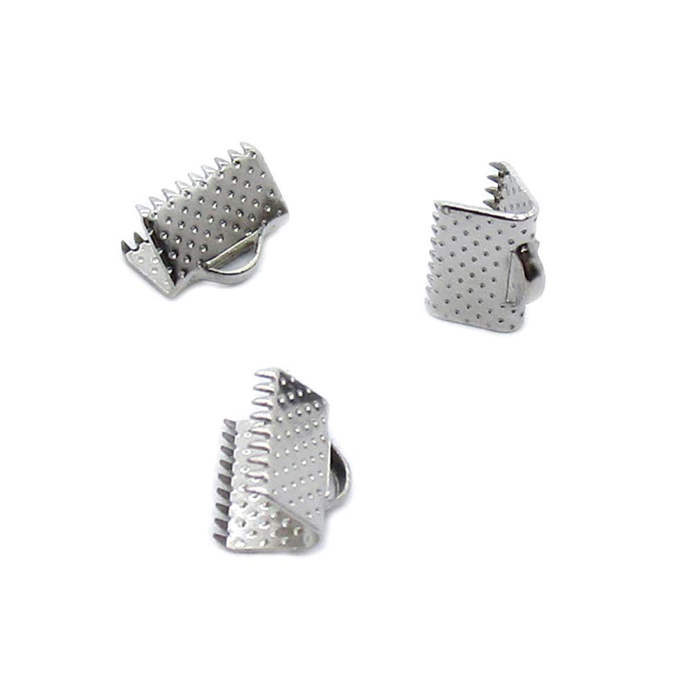 5330 Pieces Antique Silver Plated Jewelry Charms Findings Fashion Craft Making Crafting YN6F4K Ribbon Bracelet Bookmark Leather Pinch Crimps End 10mm