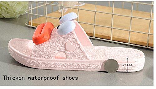 Slip Anti Sandales Plage Piscine Spa extérieure de Pantoufle de intérieur Pantoufles de Maison Pantoufles Hommes Pantoufle Bain Bain Été Femmes Rose Les Les Sandale Plancher 4ww0qfU