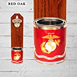 Wall Mounted Bottle Opener with US Marines Tin Can Cap Catcher
