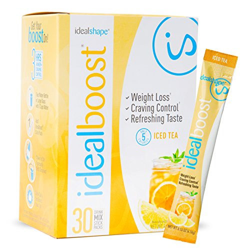IdealBoost, Weight Loss Drink Mix Packets, Iced Tea, w/Hunger Blocking and Energy Blends, 30 Servings...
