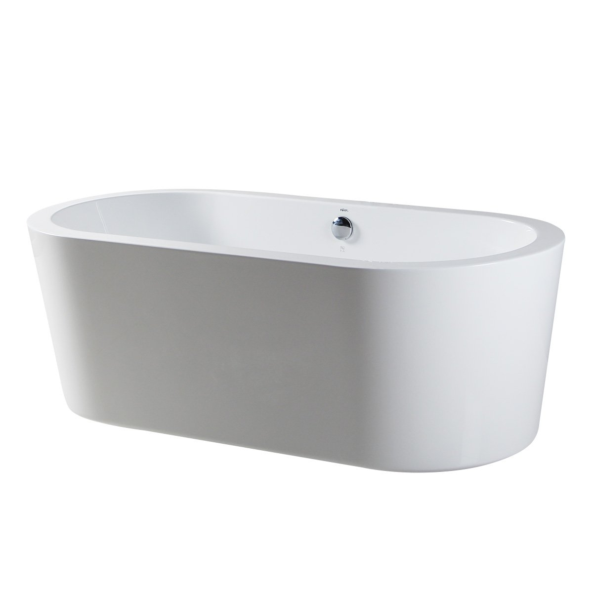 FerdY 67'' Freestanding Bathtub Bathroom Acrylic Soaking Bath tub stand alone tub Contemporary Style high glossy white cUPC Certified 74 gallons White by FerdY