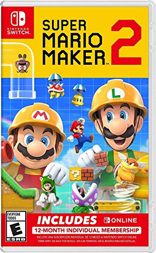 Super Mario Maker 2 + Nintendo Switch Online 12-Month Individual Membership - Nintendo Switch