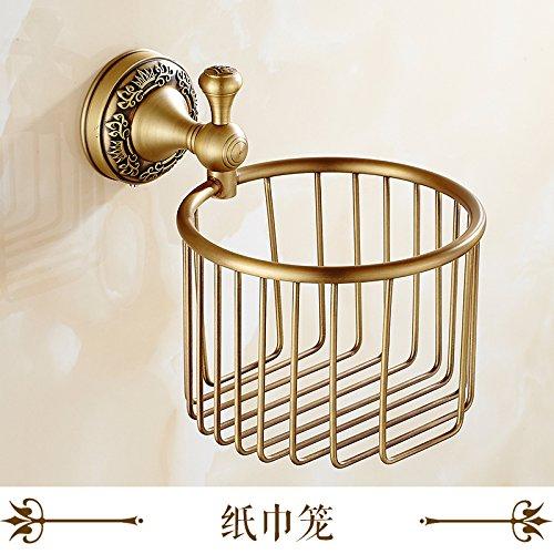 Damjic すべての銅製のアンティークなバスタオルラックビンテージタオルラックバスルームのタオルバーの組み合わせのペンダント服セット、タオルラック B072FP32K7 Towel rack Towel rack