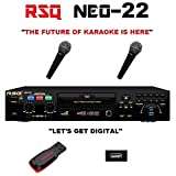 RSQ NEO 22 CDG Digital Machine Karaoke Player with 3000 Songs and 2