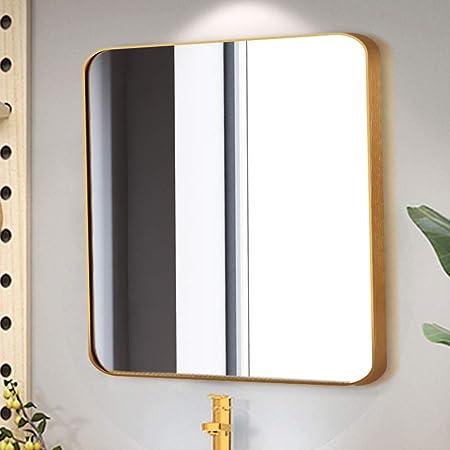 Espejo de Pared, Espejo de baño Cuadrado Moderno, Marco ...