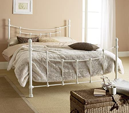 Hyder Tuscany White Metal Bed Frame Queen Size Amazon Co Uk