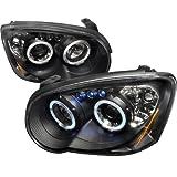 BLACK DEVIL EYE 2004-2005 Subaru Impreza WRX STi LED HALO Projector Headlights