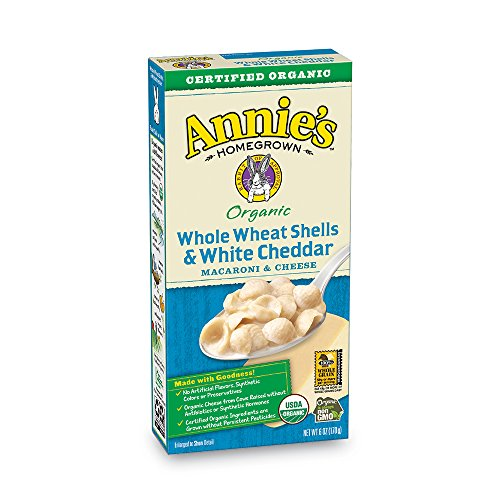 Specialty Grain End (Annie's Organic Whole Wheat Shells & White Cheddar Macaroni & Cheese,12 Boxes, 6 oz (Pack of 12))