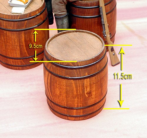 Toy Model WWII German 1/6 Scale Wooden Barrel Fit for 12