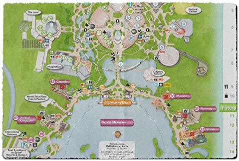Queen of Cases Epcot Center Map Fußmatten: Amazon.de: Küche ...