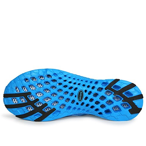 Baha Mut Quick Drying Women & Mens Mesh Breathable Lightweight Outdoor Beach Water Shoes Blue F8HBY