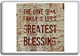 The Love Of A Family Is Life's Greatest Blessing – Motivational Quotes Fridge Magnet