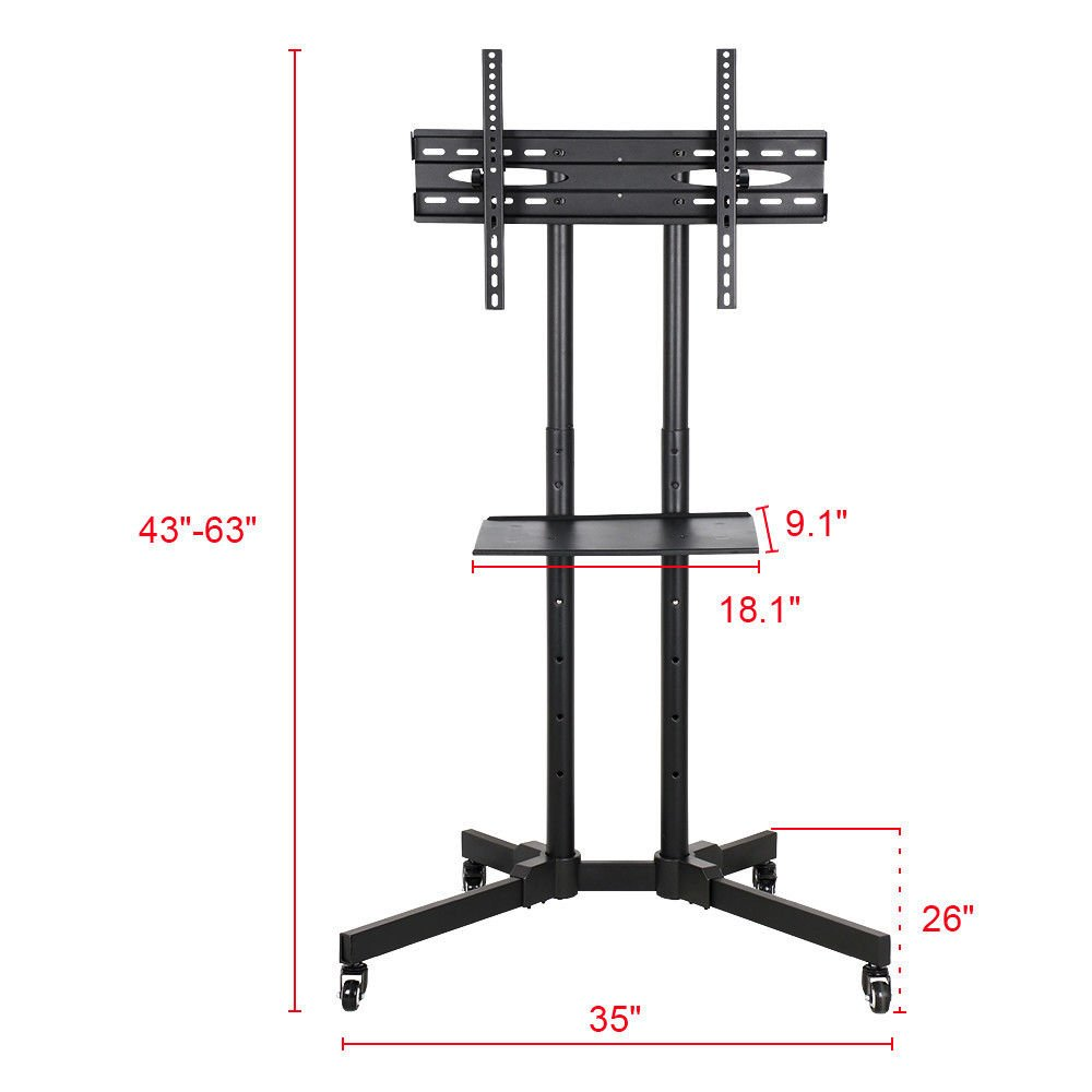 """Honesty Adjustable Versatile Fits 32""""-65"""" Mobile TV Stand For LCD LED Plasma Flat Screen by Honesty"""