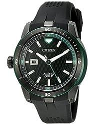 Citizen Mens AW1505-03E Ecosphere Analog Display Japanese Quartz Black Watch