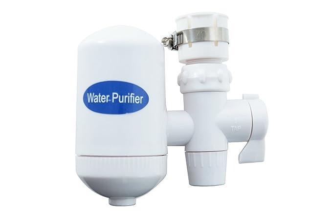 Filtro acqua rubinetto doppia purificatore ruggine cloro cucina casa