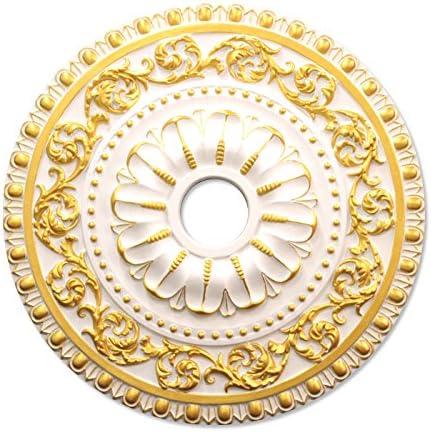 シャンデリア装飾メダリオン ゴールデンモール ポリウレタン製 NMG240