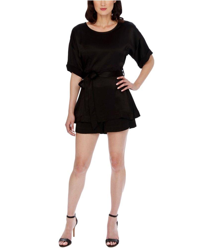 Lucky Brand Women's Short Black Romper, Jet Black, Medium