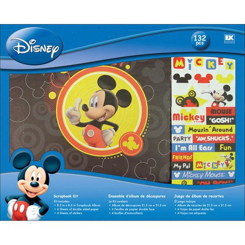 Disney(R) 8 Inch x8 Inch Postbound Album Scrapbook Kit - Mickey