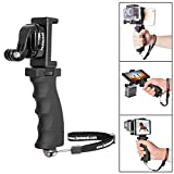 "Fantaseal® Ergonomic Action Camera Grip Mount Action Cam Handheld Stabilizer Support Action Camera Handle Steadycam Selfie Stick for GoPro Grip GoPro Handle Mount GoPro Stabilizer GoPro Selfie Stick GoPro Support Bracket w/ Smartphone Clip (UP TO 5.5"" Screen) for GoPro Hero 5/ 4 /3+/3/ Session / SJCAM SJ4000 WIFI / Garmin Virb XE / Xiaomi Yi / DBPOWER QUMOX Akaso Apeman etc GoPro-Like Action Cam , Versatile Action Camera Handheld Grip Micro Movie Shooting System (Improved Version)"