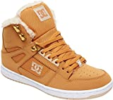 DC Women's Pure HIGH-TOP WNT Skate Shoe, Wheat, 7.5 Medium US