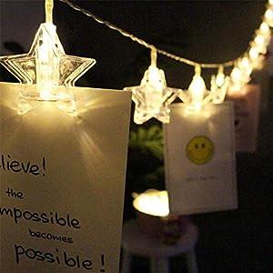 PESCA Star Photo Clip Lights 20 LED (Warm White 3M)