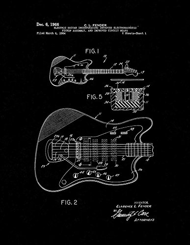 electric guitar drawing - 7