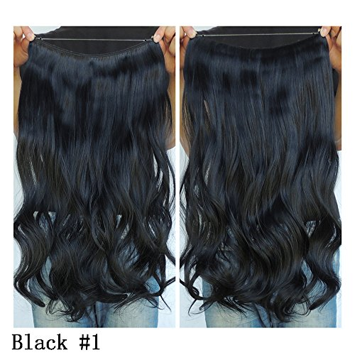 ensions Flip in Curly Wavy Hair Extension Synthetic Women Hairpieces 20